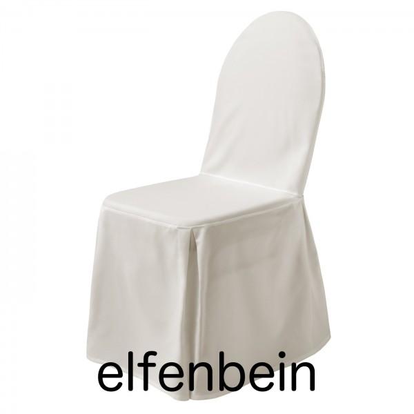 Stuhlhusse mit Schleife Elfenbein
